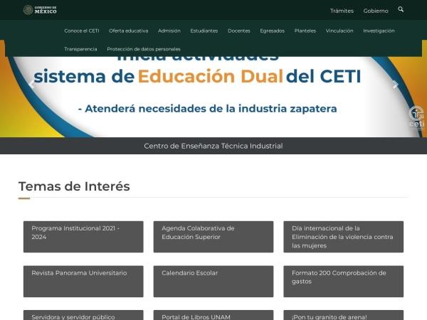 Screenshot of www.ceti.mx
