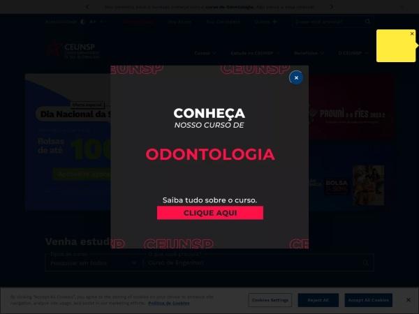 Screenshot of www.ceunsp.edu.br