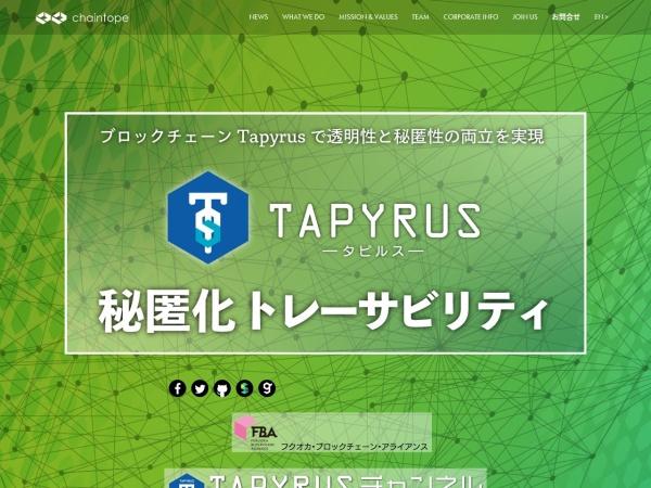 Screenshot of www.chaintope.com