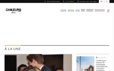Screenshot of www.chaleursnouvelles.com