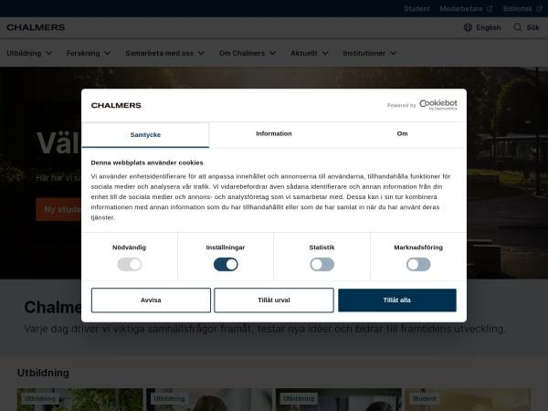 Screenshot of www.chalmers.se