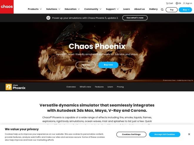https://www.chaosgroup.com/phoenix-fd/maya