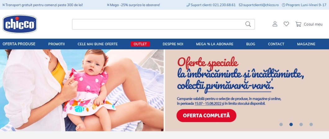 Screenshot of www.chicco.ro