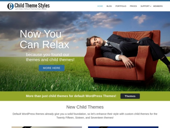 Child Theme Styles home page