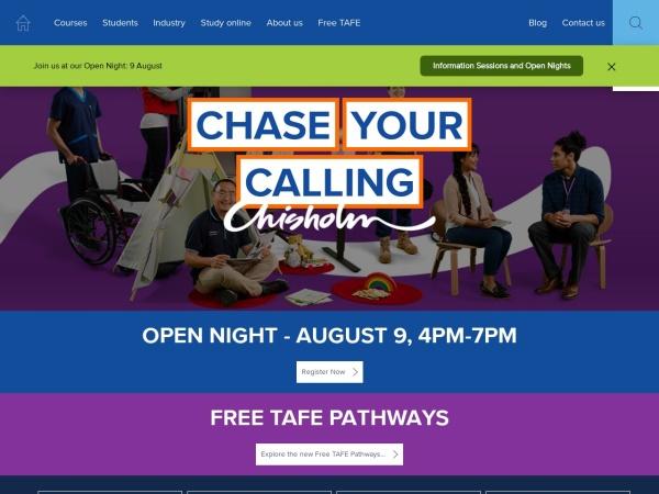 Screenshot of www.chisholm.edu.au