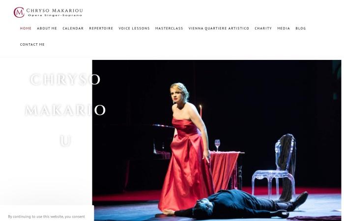 Screenshot of www.chrysomakariou.com