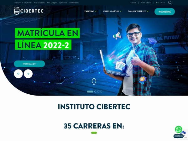Screenshot of www.cibertec.edu.pe