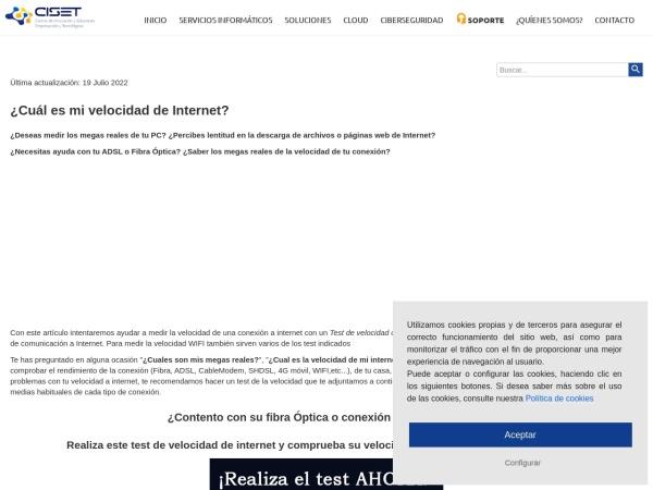 Captura de pantalla de www.ciset.es