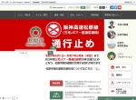 Screenshot of www.city.matsubara.lg.jp