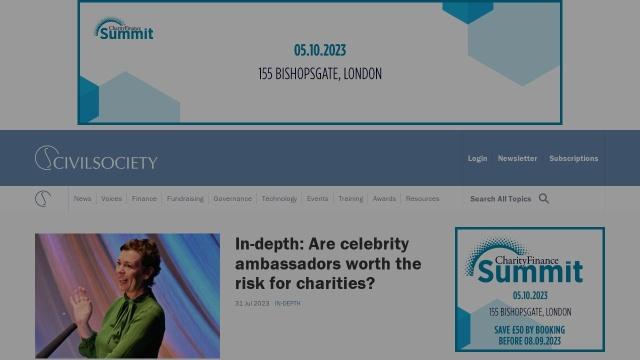 Screenshot of www.civilsociety.co.uk