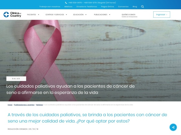 Captura de pantalla de www.clinicadelcountry.com