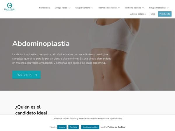 Captura de pantalla de www.clinicaelenajimenez.com