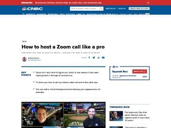 How to host a Zoom call like a pro - CNBC