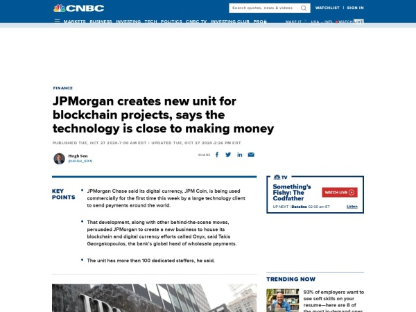 Screenshot of www.cnbc.com