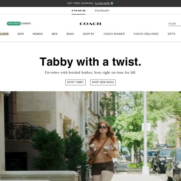 Screenshot of www.coach.com