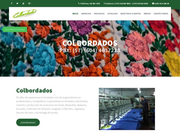 Captura de pantalla de www.colbordados.com