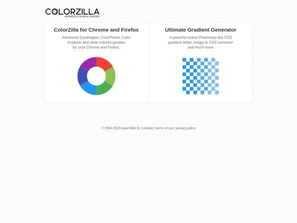 Screenshot of www.colorzilla.com