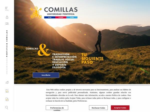 Screenshot of www.comillas.edu