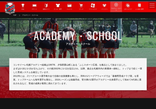 Screenshot of www.consadole-sapporo.jp