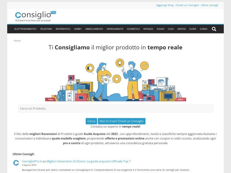 Consigliopro.it Prima Piattaforma Real-time per chiedere Consigli sugli Acquisti