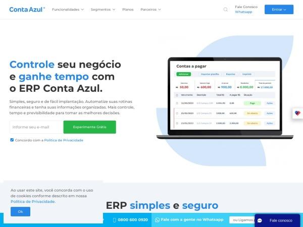 Screenshot of www.contaazul.com