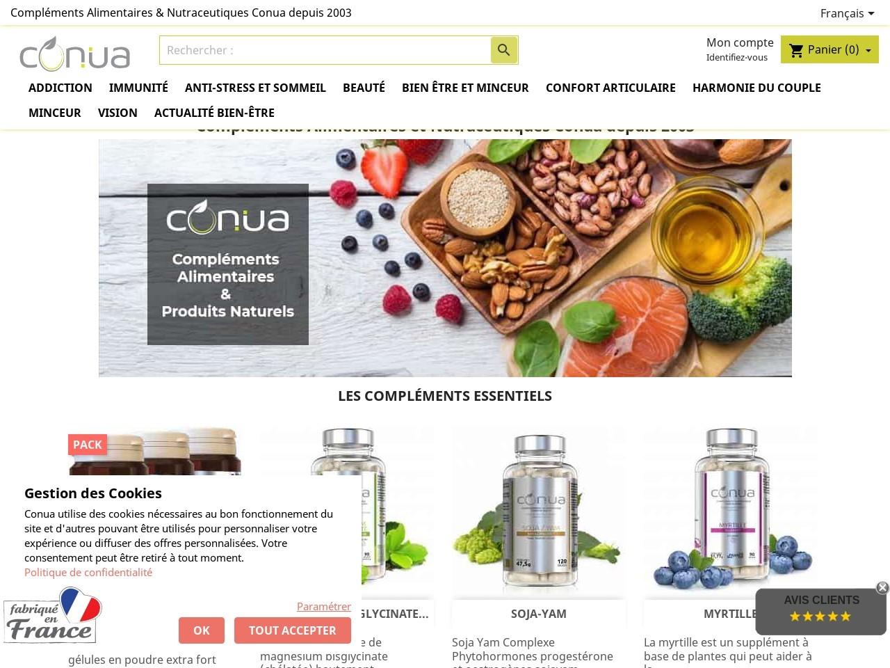Conua Vision prévention visuelle avec les plantes santé en complément alimentaire