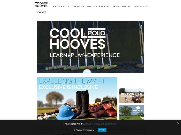 Screenshot of www.coolhoovespolo.co.uk