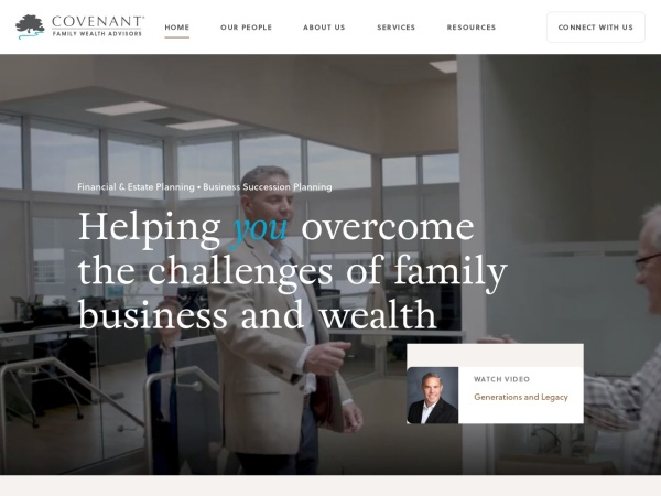 Screenshot of www.covenant.ca