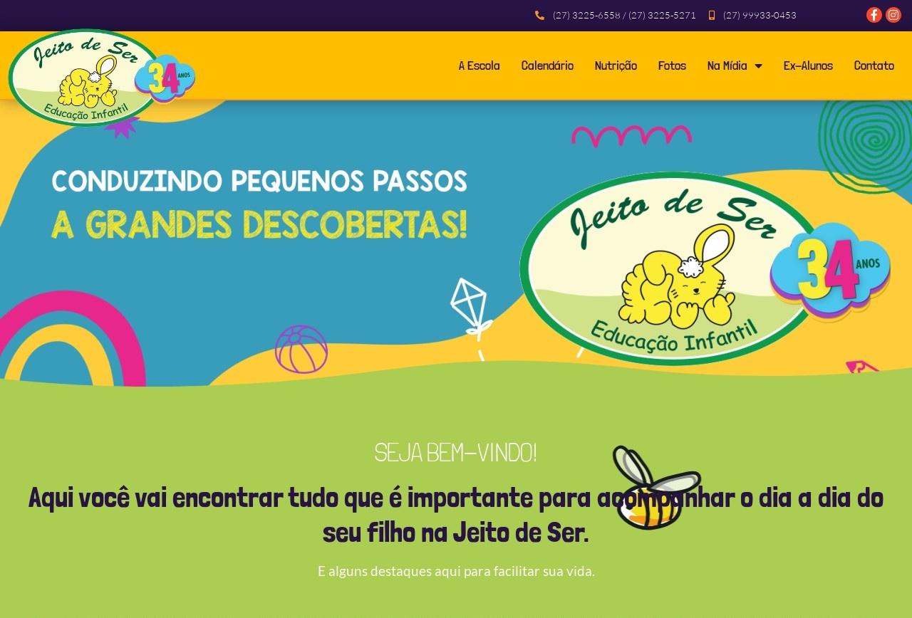 Screenshot of www.crechejeitodeser.com.br