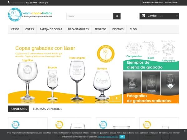 Captura de pantalla de www.cristalgrabado.es