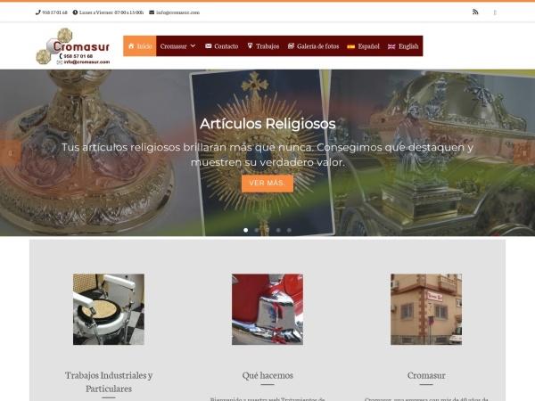 Captura de pantalla de www.cromasur.com