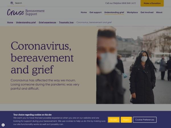 Screenshot of www.cruse.org.uk