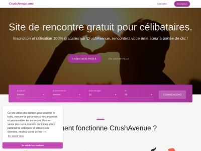 CrushAvenue : site de rencontre sérieux et gratuit pour célibataires francophones, 100 % confidentiel et entièrement sécurisé