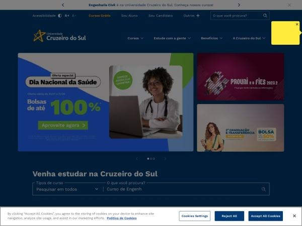 Screenshot of www.cruzeirodosul.edu.br