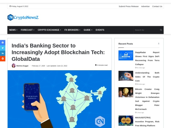 Screenshot of www.cryptonewsz.com