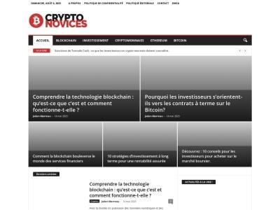 CryptoNovices, plateforme informative pour tout connaître sur les cryptomonnaies