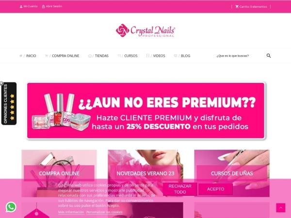 Captura de pantalla de www.crystalnailstienda.es