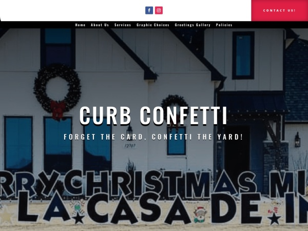 Screenshot of www.curbconfetti.com