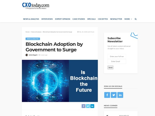 Screenshot of www.cxotoday.com
