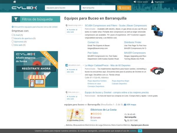 Captura de pantalla de www.cylex.com.co
