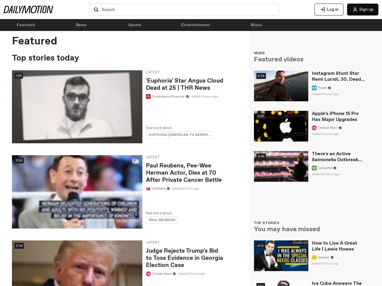 Captura de pantalla de www.dailymotion.com