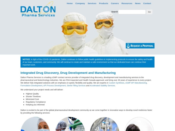 Screenshot of www.dalton.com