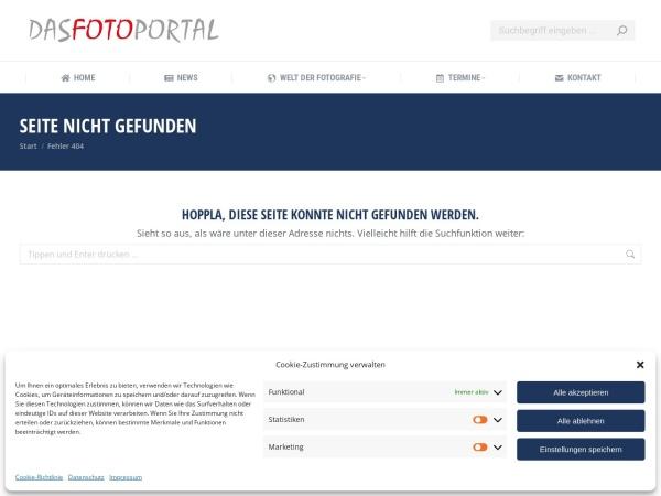 Screenshot von www.dasfotoportal.de