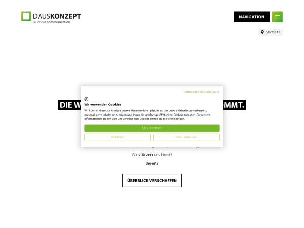 Screenshot von www.dauskonzept.de