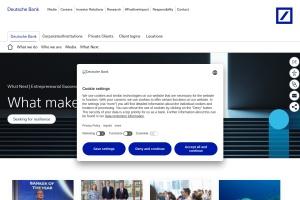 Screenshot of www.db.com