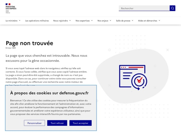 Screenshot of www.defense.gouv.fr