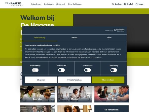 Screenshot of www.dehaagsehogeschool.nl