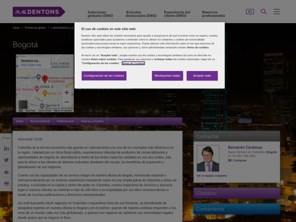 Captura de pantalla de www.dentons.com