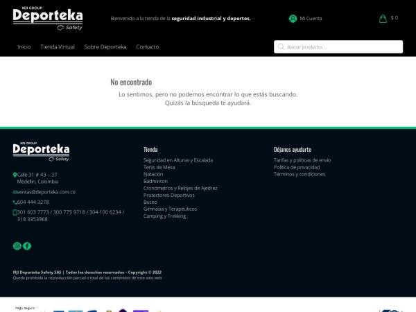 Captura de pantalla de www.deporteka.com.co