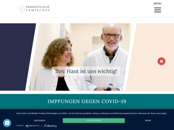 Screenshot von www.dermatologie-tempelhof.de